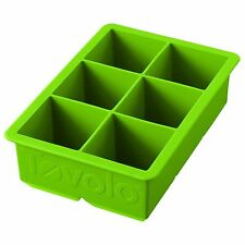 Tovolo King Cube Ice Tray Mold Pan Green Silicone Broth Stock Juice Tea 81-9707