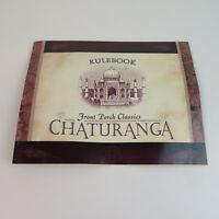 CHATURANGA Game Replacement Parts by Front Porch Classics - Rulebook