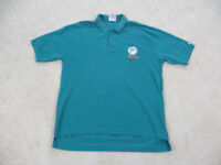 VINTAGE Miami Dolphins Polo Shirt Adult Extra Large Green NFL Football Men 90s