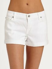 NWT 7 For All Mankind Womens Roll Up Short In Clean White Size 26