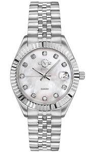 GV2 by Gevril Women's Naples 12405 Swiss Quartz MOP Dial Diamond Watch