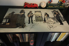 "Deep Purple hand signed 12x24"" Poster by Jon Lord, Ian and Roger. RARE!!!"