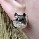 Cairn Terrier Gray Tiny One Dog Head Post Earrings Jewelry