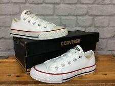 CONVERSE UK 12 EU 30 CHUCK TAYLOR  ALL STAR OX LEATHER WHITE TRAINERS CHILDRENS