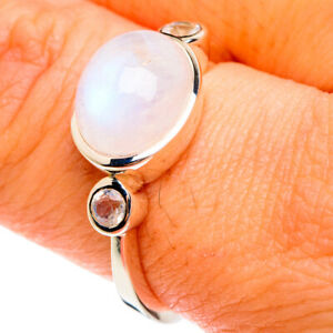 Rainbow Moonstone 925 Sterling Silver Ring Size 9 Ana Co Jewelry R77078F