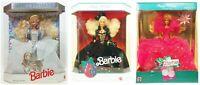 Mattel Special Edition Happy Holidays Barbie Lot Of 3 Dolls NRFB