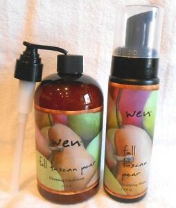 WEN Fall Tuscan Pear 16oz Cleansing Conditioner + 7.5 Fall Tuscan Pear Mousse