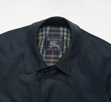 Burberry Nova Check Long Trench Car Coat Mens Size 46 S Small Vintage Overcoat