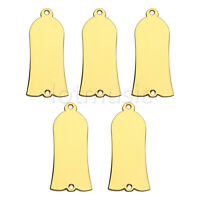 5pcs Gold Plated Metal Truss Rod Cover For Guitar Parts
