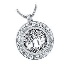 Memorial Gifts - 'Always in My Heart' 1 or 2 Vials Urn Locket Pendant Necklac...