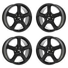 20x9 20x8 CHEVROLET CAMARO SS BLACK WHEELS RIMS FACTORY OEM SET 4 5578 5580