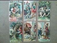 """#Original 1800's Victorian Brave Little Tailor Lot of 6 Die Cut Paper 2 x 3.25"""""""