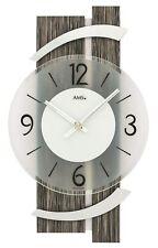 AMS -holzdekor 40cm- 9547 Moderno Reloj de pared con mecanismo cuarzo,con pilas