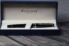 Waterman Expert III Fountain pen, Black, chrome tone rim,New in box, never inked