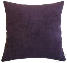 Purple Velvet Solid Decorative Throw Pillow Cover / Cushion Cover / 18x18""