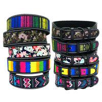 "Colorful Fashion Large Dog Collar Nylon Collar 2"" Wide Pitbull Boxer Rottweiler"