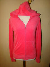 JUICY COUTURE PINK TERRY TRACKSUIT JACKET HOODIE HOODED ZIP UP SIZE M