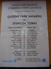 10/11/1998 Queens Park Rangers riserve V Ipswich Town riserve (colore singolo