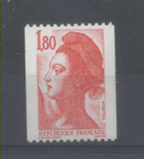 FRANCE TIMBRE ROULETTE 2223a N° rouge au verso LIBERTE rouge - LUXE **