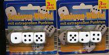 Würfel Senioren-Würfel  Spielewürfel Knobelwürfel größer für Senioren 2 x2 x 2cm