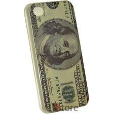 Cover Custodia Per iPhone 4S e 4 100 Dollari Dollaro + Pellicola Salva Schermo