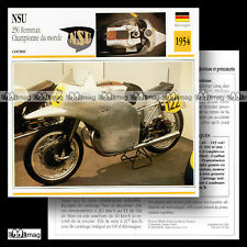 #019.06 NSU 250 RENNMAX 1950's Fiche Moto Racing Bike Motorcycle Card