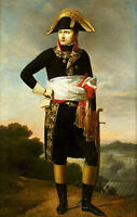 Beautiful art Oil painting Portrait Of Napoleon France Emperor & sword in view