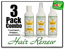 HAIR RENEW 3 COMBO women hair loss regrowth treatment shampoo conditioner dercos