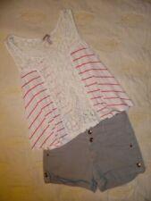 Arizona Shirt Size-M - W/Refuge Gray High rise Shorts, Women's size-8/ Lot of 2