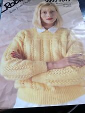 "173/ Robin Knitting Pattern ladies SWEATER 30""-40"" DK wool"