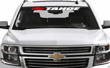 "Tahoe Bowtie Front Windshield Banner Decal Sticker 2 COLOR Fits Chevy 4"" x 36"""