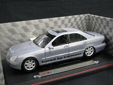 "Maisto Mercedes-Benz S-Class 1998 1:18 Silver ""Tuned by Lorinser"" (JS)"