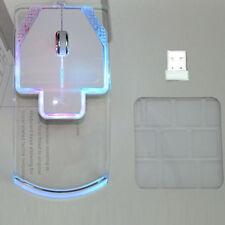 Colorful LED Light Transparent Wireless Mouse Optical Mice For Laptop Desktop PC