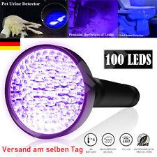 Heiß Ultraviolett 100 LED UV Taschenlampe Schwarzlicht Handlampe Lampe DE