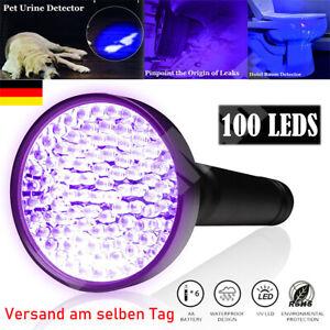 UV Lampe 100 LED Taschenlampe 395 nm Scorpion Bernstein Schwarzlicht Handlampe