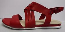 Ecco Size EUR 39 US 8 8.5 Red Leather Sandals New Womens Shoes