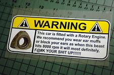 ROTARY ENGINE Sticker Decal Vinyl JDM Euro Drift Lowered illest Fatlace