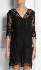 KATE MOSS TOPSHOP BLACK DRESS  LBD 1/200 EMBROIDERED  CROCHET LACE 8 36 4 BNWT