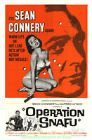 OPERATION SNAFU MOVIE POSTER Original Folded27x41 JAMES BOND'S SEAN CONNERY 1965