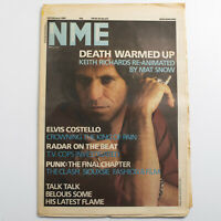 NME magazine 22 February 1986 Keith Richards cover Elvis Costello The Clash