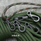HOT 10 PCS EDC gear Simple Spring Hook Mini Keychains Buckle Para Biner Paracord