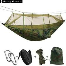 Camping Hammock with Mosquito Net Double Persons Portable Bed Tent Army Green