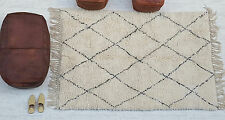 Handgeknüpft Berber Teppich BENI OURAIN RUG  140 cm x 245 cm Handmade 100% wolle