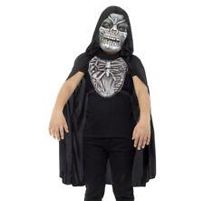 Halloween Enfant Faucheur Ensemble Déguisement Cape Masque & Poitrine Pièce Par