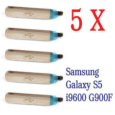 5 X USB connettore di ricarica COPERTURA COPERCHIO TAPPO PORTA PER SAMSUNG GALAXY s5 i9600 g900f
