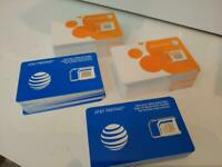 500 AT&T Bulk SIM Cards - Triple Cut fits All Sizes - Prepaid or Contract