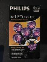 HALLOWEEN PURPLE 60 LED STRING OF LIGHTS INDOOR/OUTDOOR BRAND NEW  PHILLIPS