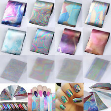 12 Holographic Nail Foils Starry Sky Glitter Foils Nail Art Transfer Sticker Set