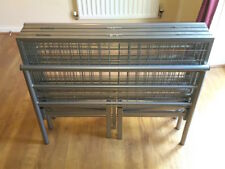 Vegas double 4.6 contract metal folding bed frame in Silver colour