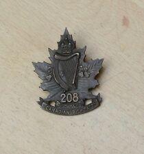208th Overseas battalion of Canada Irish cap badge